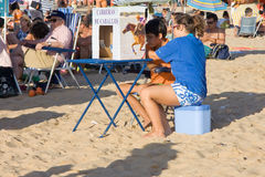 Sanlucar races children bets Stock Image