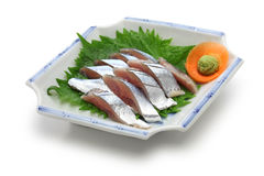 Sanma sashimi, japanese cuisine Stock Photography