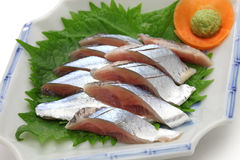 Sanma sashimi, japanese cuisine Royalty Free Stock Photography