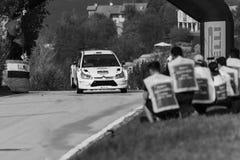 SANMARINO SANMARINO, OCT, - 21, 2017: CITROEN C4 WRC 2006 bieżnego samochodu starego wiecu dziejowa rasa Fotografia Royalty Free
