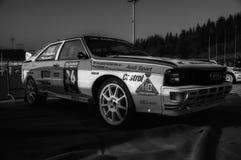 SANMARINO, SANMARINO - OTT 21, 2017: AUDI QUATTRO 1983 w starym bieżnego samochodu wiecu legenda 2017 sławny SAN MARINO dziejowy  Obrazy Royalty Free