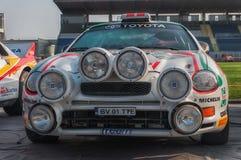 SANMARINO, SANMARINO - OTT 21, 2017: TOYOTA CELICA GT4 - ST205 1995 w starym bieżnego samochodu wiecu legenda 2017 sławny SAN MAR Zdjęcia Stock