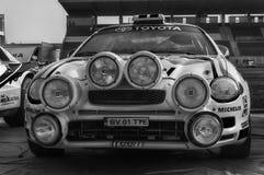 SANMARINO, SANMARINO - OTT 21, 2017: TOYOTA CELICA GT4 - ST205 1995 w starym bieżnego samochodu wiecu legenda 2017 sławny SAN MAR Obrazy Stock