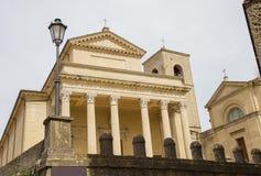 Sanmarinsk basilika marino san marinorepublik san Arkivbilder