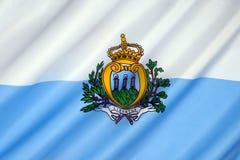 Sanmarinsk flagga - Europa Royaltyfria Bilder