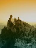Sanmarinsk slott arkivfoto