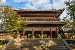 Sanmon Gate at Nanzen-ji Temple in Kyoto Royalty Free Stock Photo