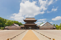 Sanmon Gate of Zuiryuji Temple in Takaoka. National Treasure of Stock Photos