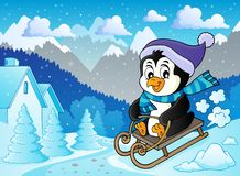 Sanna pingwinu tematu wizerunek 2 ilustracji