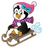 Sanna pingwinu tematu wizerunek 4 ilustracji