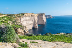 Sannap cliffs in Gozo, Malta Royalty Free Stock Photo