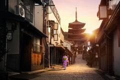 Sannen Zaka Street Royalty Free Stock Photography