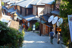 Sannenzaka (three-year slope) and Ninenzaka (two-year slope) are a preservation district in Kyoto, Japan Stock Image