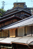 Sannenzaka (three-year slope) and Ninenzaka (two-year slope) are a preservation district in Kyoto, Japan Royalty Free Stock Images