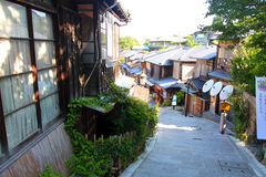 Sannenzaka (three-year slope) and Ninenzaka (two-year slope) are a preservation district in Kyoto, Japan Stock Photos