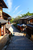 Sannenzaka (three-year slope) and Ninenzaka (two-year slope) are a preservation district in Kyoto, Japan Stock Images