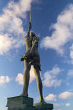 Sanning - staty i Ilfracombe av Damien Hirst författare Royaltyfri Bild