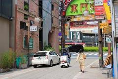 Sannomiya, Kobe, Japan cityscape. Royalty Free Stock Photography