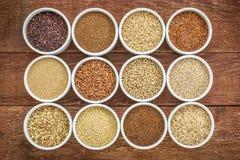 Sano, raccolta libera dei grani del glutine Immagine Stock