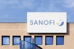 Sanofi building and office Royalty Free Stock Photos