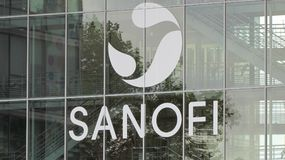 Sanofi-Logo auf einem Gebäude Stockfotos