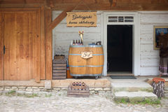 SANOK, POLAND - OCTOBER 02: Kvass shop at Skansen on October 02, Stock Images