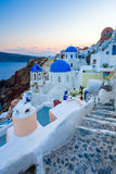 Sanotorini Greece Sunset Stock Photography