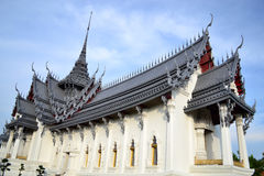Sanpetch Prasat in Ancient City. Wonderful Thai architecture under blue sky Royalty Free Stock Photos