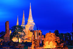 Sanphet Ayutthaya di sri di phra di Wat Immagini Stock