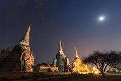 Sanphet Ayutthaya Tailandia di sri di phra di Wat Fotografia Stock Libera da Diritti