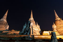 Sanphet Ayutthaya Tailandia di sri di phra di Wat Immagine Stock Libera da Diritti