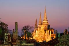 Sanphet Ayutthaya Tailandia di sri di phra di Wat Immagini Stock Libere da Diritti