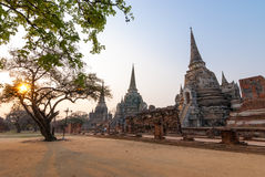 Sanphet Ayutthaya Tailandia di sri di phra di Wat Fotografie Stock Libere da Diritti