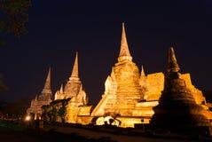 Sanphet di sri di phra di Wat nella notte Immagine Stock Libera da Diritti