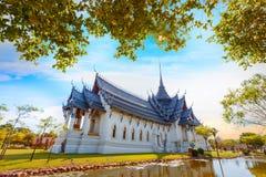 Sanphet Prasat宫殿在泰国 免版税库存图片