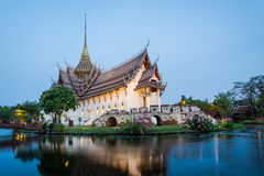 Sanphet Prasat宫殿 免版税库存图片