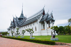 Sanphet Prasat Palace. Image in Thailand stock image