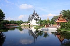 Sanphet Prasat Palace, Ancient City, Bangkok, Thai Royalty Free Stock Images