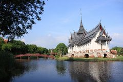 Sanphet Prasat Palace, Ancient City, Bangkok, Thai Stock Photos