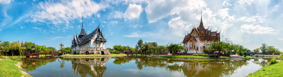 Sanphet Prasat Palace, Ancient City, Bangkok, stock images
