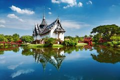 Sanphet Prasat Palace, Thailand. Sanphet Prasat Palace, Ancient City, Bangkok, Thailand Royalty Free Stock Photography