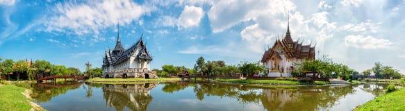 Sanphet Prasat slott, forntida stad, Bangkok, arkivbilder