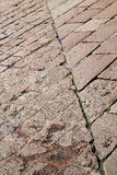 Sanpietrini  arsizio  stree    pavement of a curch and marble Royalty Free Stock Photos