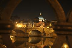 SanPietro vatican Good nigth with stars (home-pope) Stock Photography