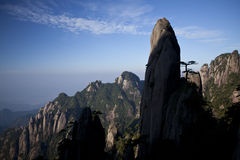 Sanqing Mountain. Sanqing hill mountain located in Jiangxi province, China Royalty Free Stock Image