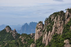 Sanqing mountain. View of Sanqing mountain, a famous Tao mountain in China Royalty Free Stock Photo