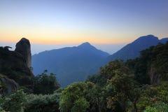 Sanqingshan восход солнца горы, саман rgb стоковая фотография