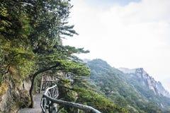 Sanqingshan berglandskap fotografering för bildbyråer