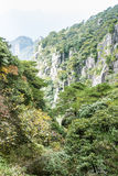 Sanqingshan mountain autumn scenery Royalty Free Stock Images