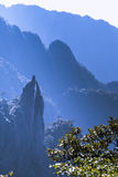 Sanqingshan mountain scenery. Grotesque peaks thrusts itself towards the sky.This photo was taken in Mt. Sanqingshan.Photo taken on:Oct 21th,2015.Mt. Sanqingshan Stock Photography